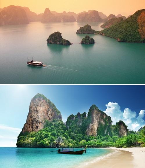 Vietnam and Thailand
